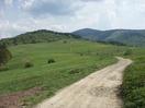 Droga do Żabnicy, widok na Grapę, w oddali Prusów_1